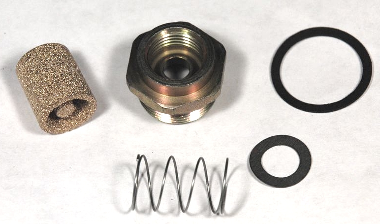 66-67 Corvette FUEL INLET KIT - 427/390HP Holley carburetor / 5pc, 1 each:  fuel inlet fitting, fuel filter & spring and large & small gaskets ·  Chicago CorvetteChicago Corvette