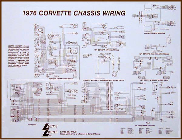 76 Corvette WIRING DIAGRAM - (17